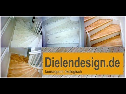Treppen Trittstufen schleifen Wasserlack und versiegeln in Potsdam - Parkett-Versiegelungen Wasserlack Hartöl