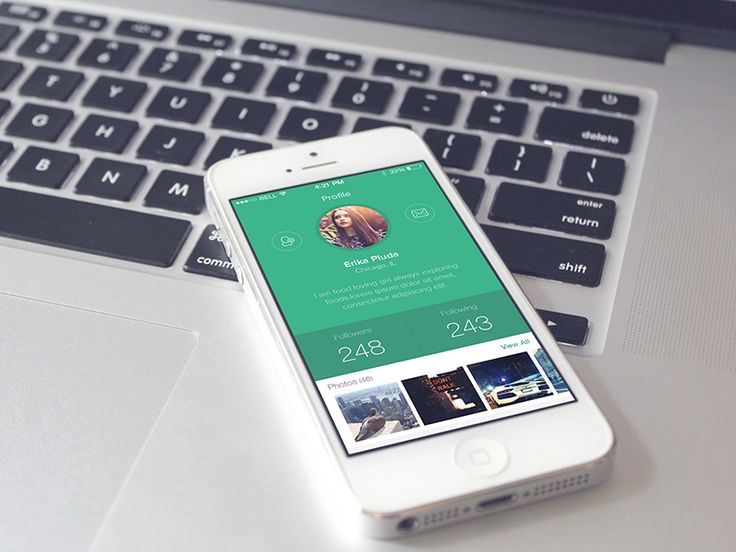 iOS User Profile Screen by Creative Boxx