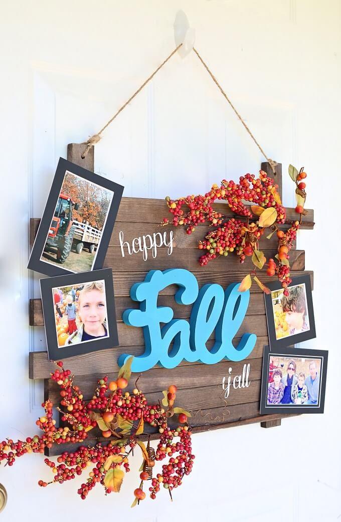 Happy Fall Y'all DIY Plank Wreath