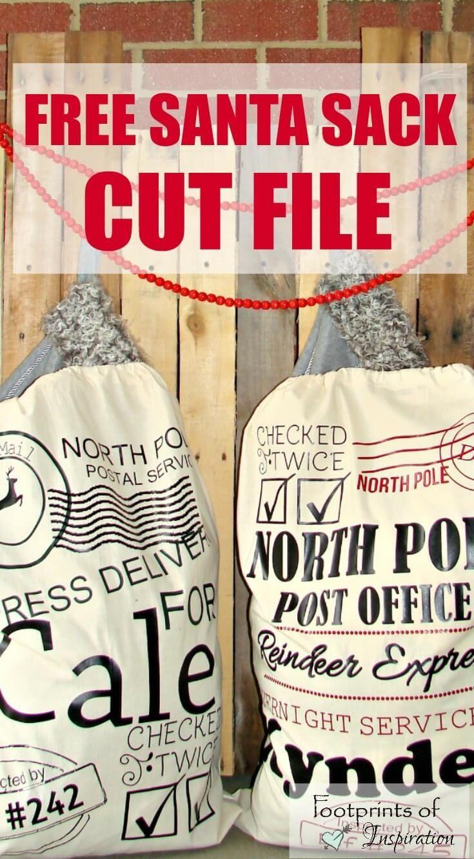Free Santa Sack SVG Cut Files