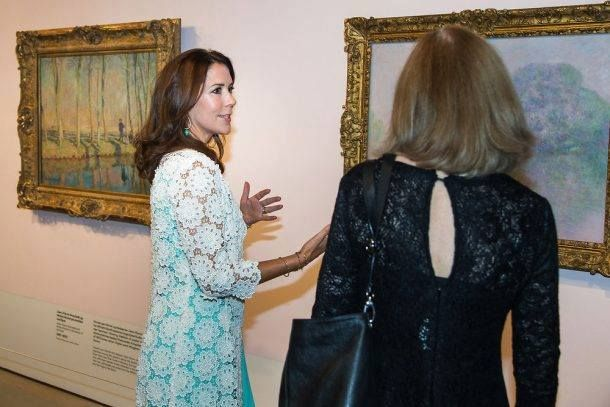 Crown Princess Mary attended preview of the French painter Monet exhibition at Ordrupgaard Museum in Charlottenlund in Denmark