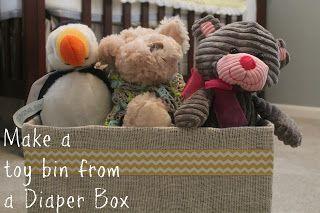 Accidentally Wonderful: Burlap Wrapped Diaper Box