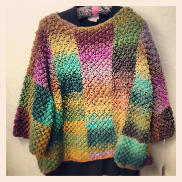 """Trinity Stitch Sweater, By Valentina Devine - Published in """"Knit Noro: 30 Designs in Living Color"""", available at The Sassy Knitter (Knit by Barbara Smyrl)"""