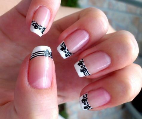 Easy French Nail Designs Pictures