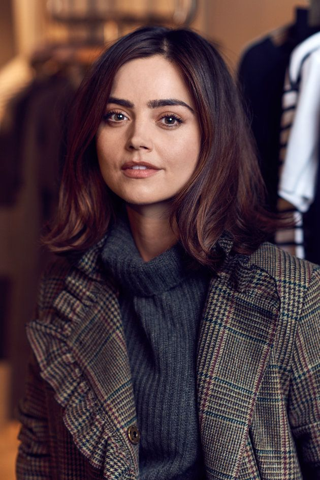 "Jenna Coleman, photographed for the Huffington Posts's ""Wise Words."""