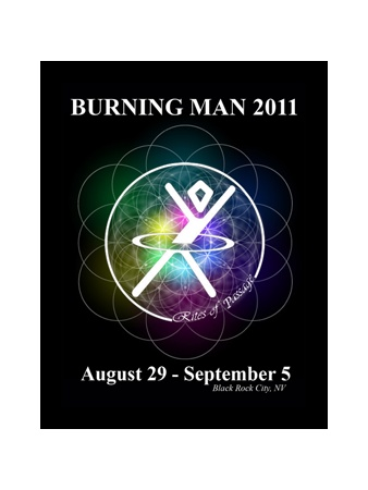 Burning Man Stickers printed by Custom Sticker Makers!