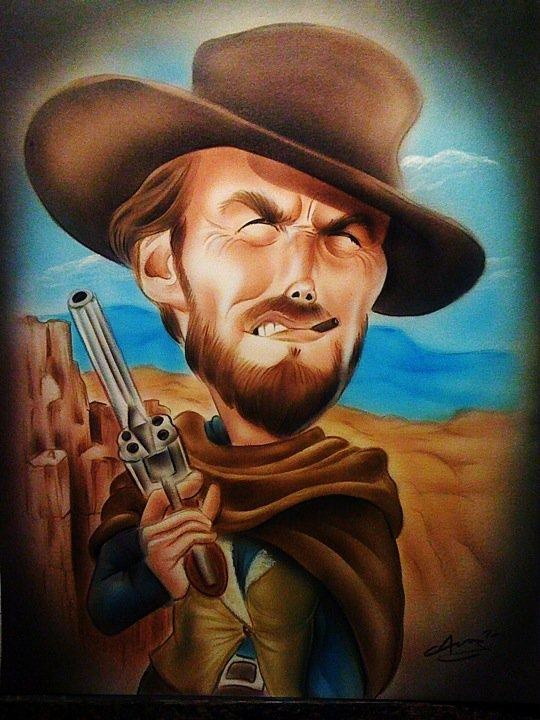 Clint eastwood art celebrities pinterest - David s salon eastwood ...
