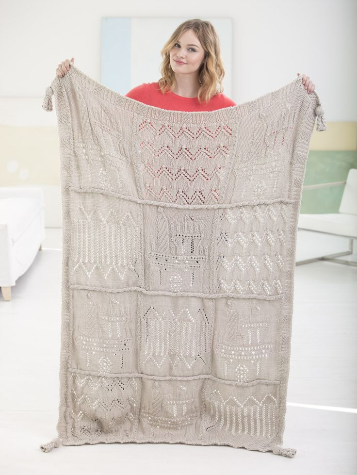 181 best Knitted Blanket Patterns images on Pinterest | Knit ...