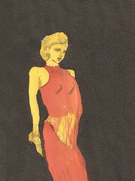 Frankie M. pen, ink, acrylic on paper, 2012