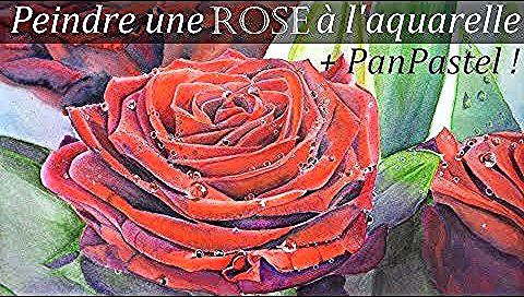 Peindre Une Rose Rouge Aquarelle In 2020 Rose Painting Art