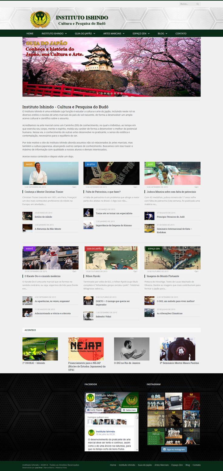 Website do Instituto Ishindo