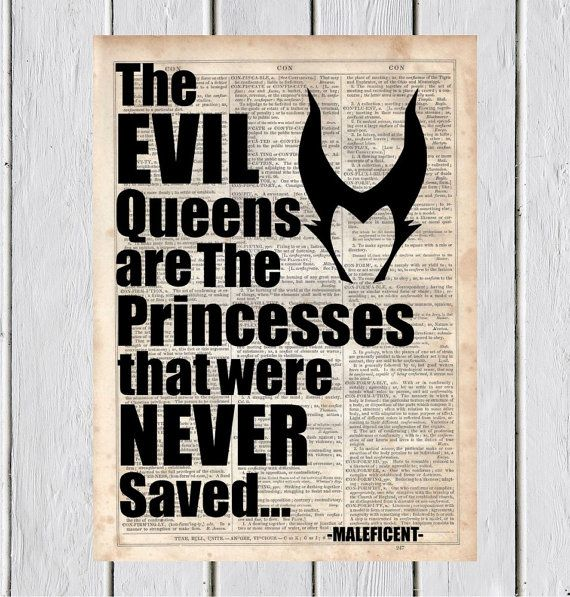 Maleficent Quote Dictionary Art Print by MySilhouetteShoppe