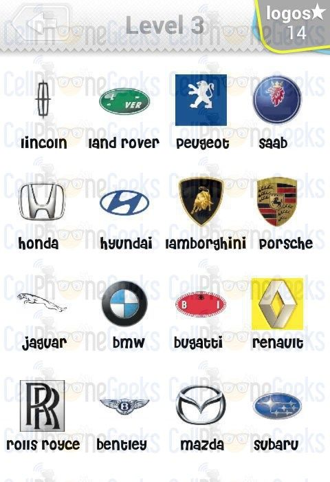 logo quiz cars answers level 3 logo quiz cars answers
