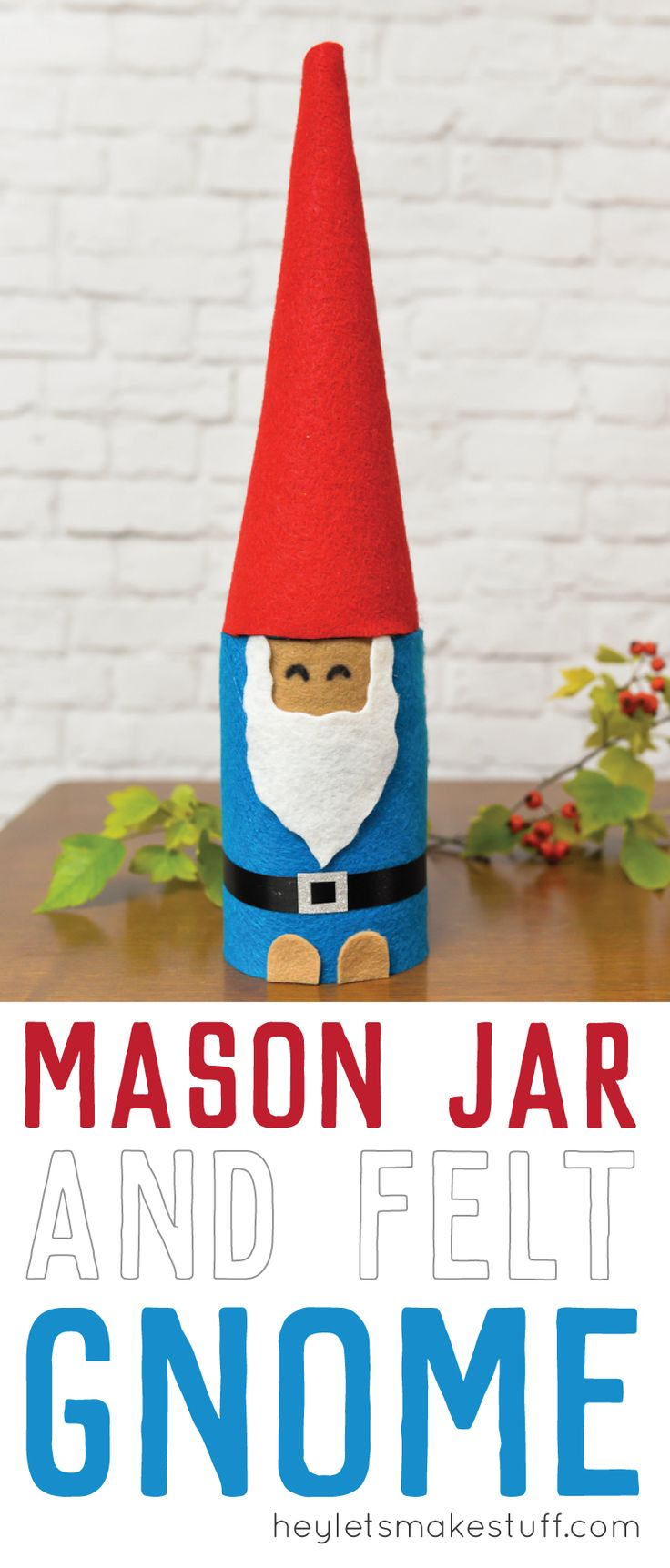 Conners sales group red hat project - This Christmas Gnome Is Made From A Mason Jar And Felt A Quick Christmas Craft