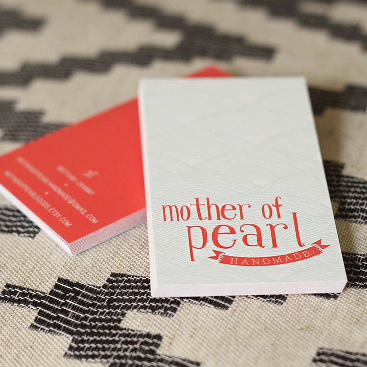 Business Cards & logo for Mother of Pearl Handmade. 2014