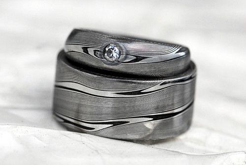 Snubní prsteny - Diamond wave- diamant 3mm
