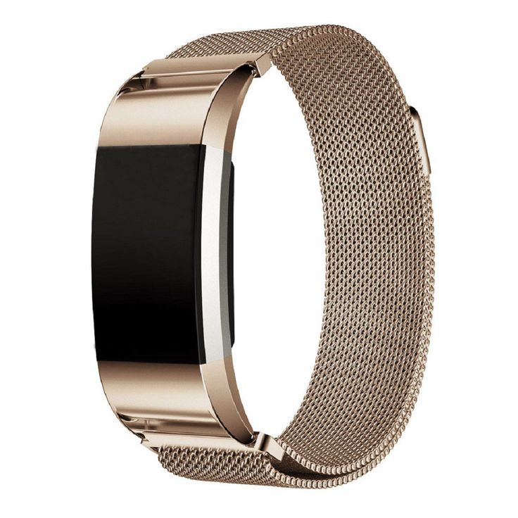 Milanese Metal Band for Fitbit Charge 2,Ikevan Adjustable Replacement Stainless Steel Watch Band Strap Bracelet + HD Screen Protector for Fitbit Charge 2,No Tracker (Gold). Models for selection:For Fitbit Charge 2. All stainless steel solid wire mesh with interlock clasp. Size can be adjusted according to the circumstance of individual wrist, one size fits all. Specially designed connector, easy to install and remove, no tools needed. Package Include:1pc Wristband(without retail…