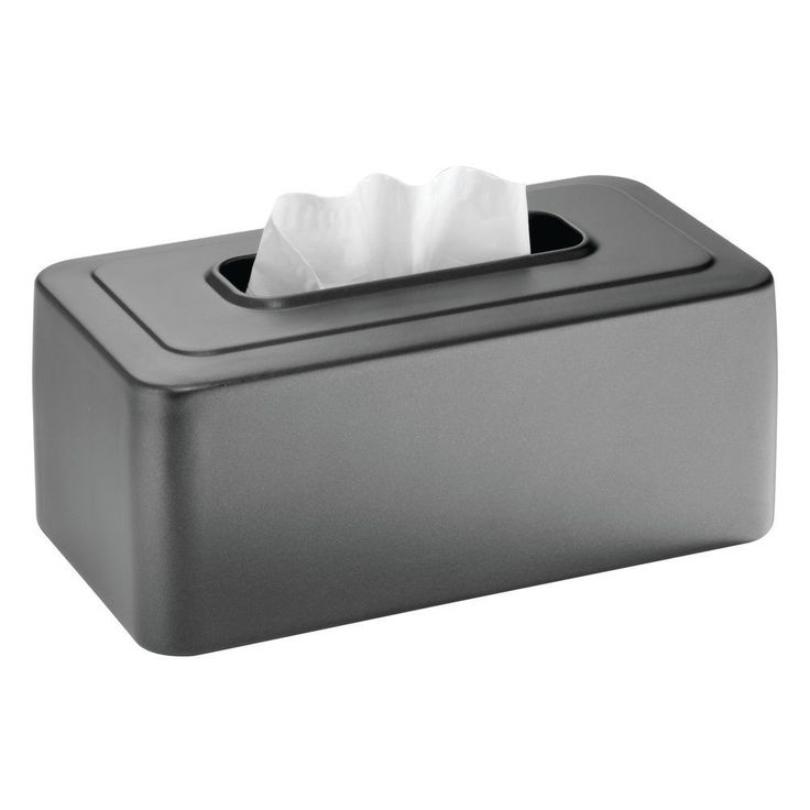 Facial Tissue Box Cover Open Bottom Vanity Countertop Steel Tissue Holder, Slate #TissueBoxCover