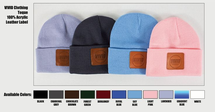 VIVID Clothing Signature Toque with Leather Patch   $12.42