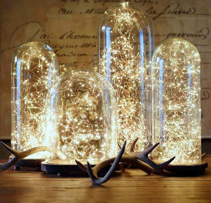 CAMPANAS DE CRISTAL...Con luces led puedes crear rincones especiales. De interiorsbystudiom.com   - AR-Revista.com