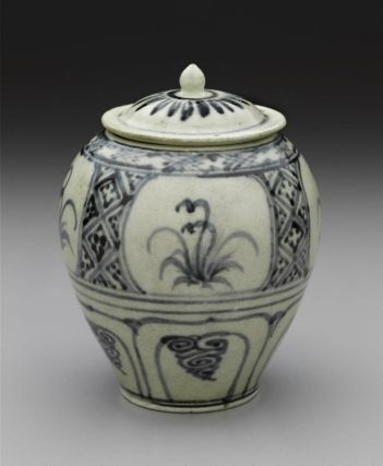 Vietnamese covered jar, Le dynasty, 15th–16th century