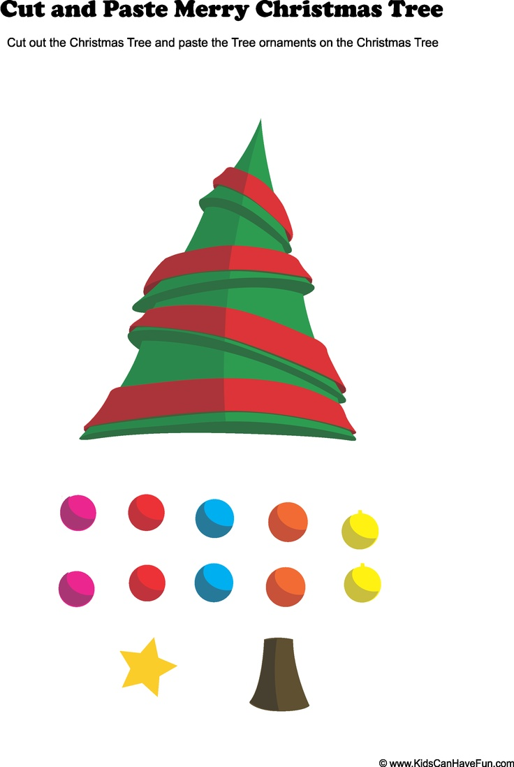 10 best cut and paste images on pinterest learning christmas cut and paste christmas tree activity buycottarizona Image collections