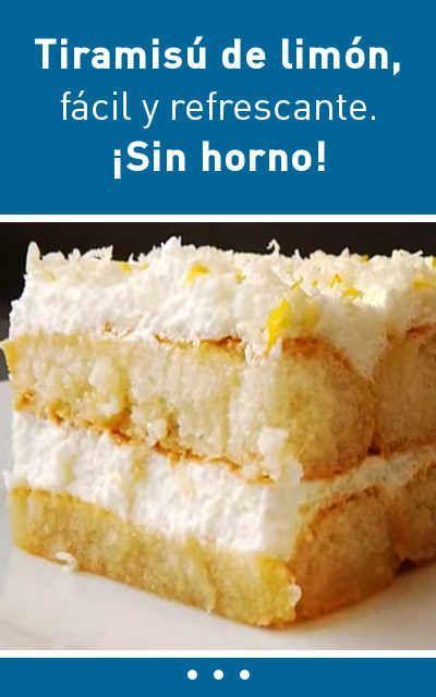#tiramisú #limón #receta #fácil #sinhorno