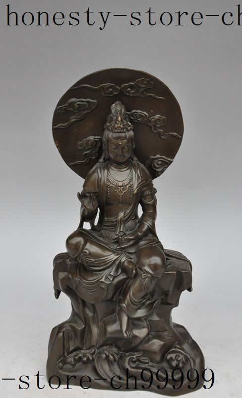 Christmas chinese buddhism bronze Freedom Guanyin Kwan-Yin Bodhisattva Goddess statue  Halloween Halloween #Affiliate