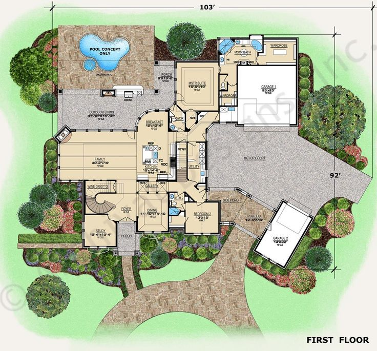 Augusta residential house plans texas house plans for Huge house floor plans