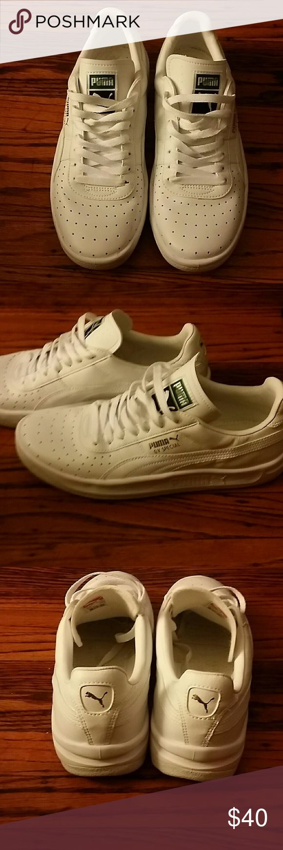 Mens Puma Sneakers Men's White  GV Special White Puma Sneakers...great, like new condition.. PUMA Shoes Sneakers