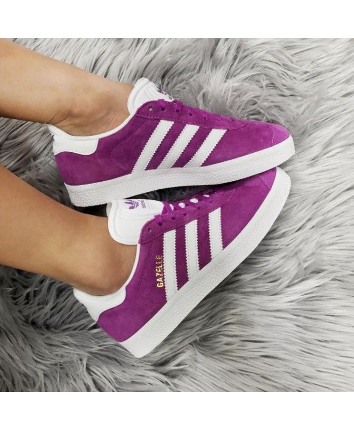 Shoes Pins Purple Womens Fashion Adidas In WhiteKerry's Gazelle AjL45R