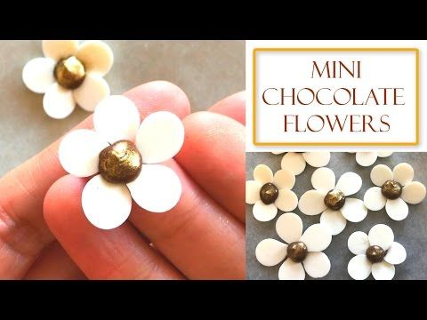(1) How to make Mini Chocolate Flowers | Simple & Easy - YouTube
