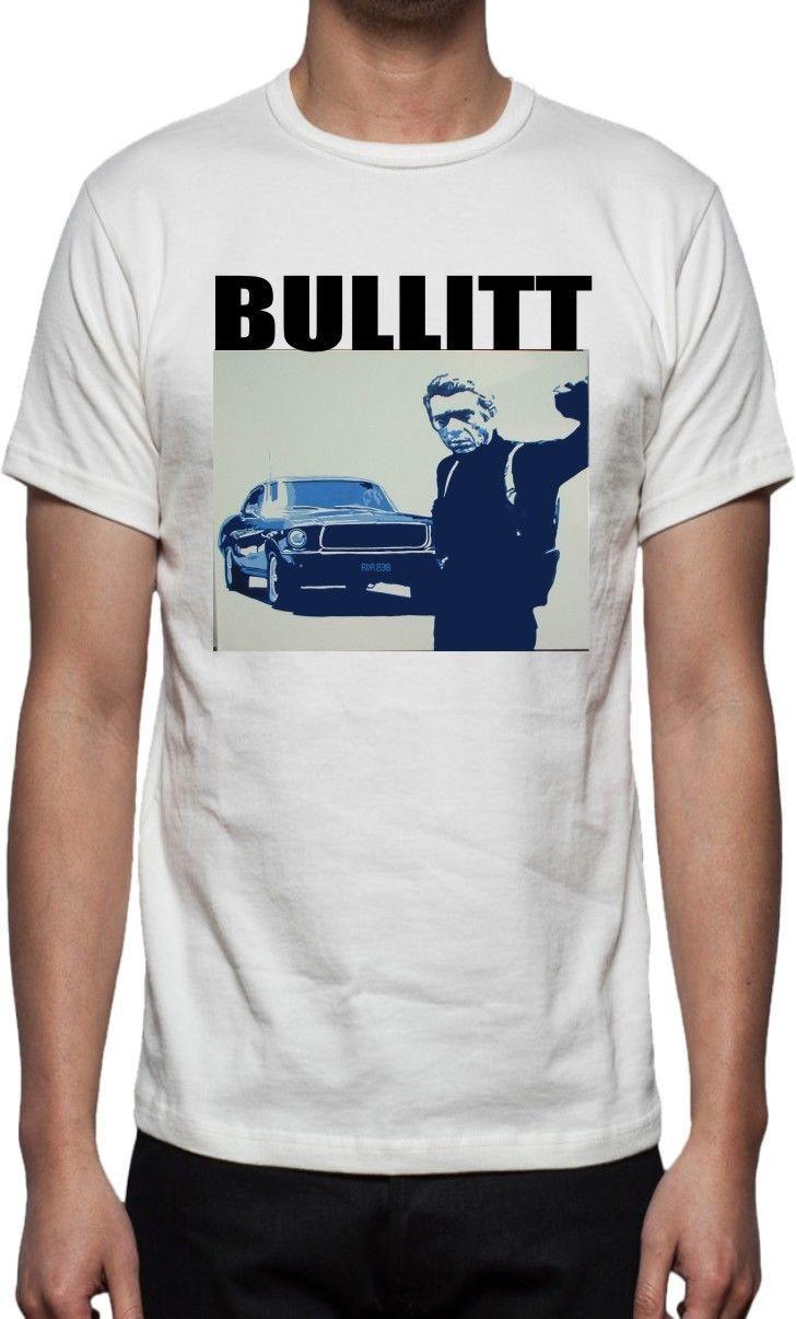 Steve Mcqueen Bullitt T Shirt-Classic Film Various 3D Print Men's 100% Cotton Tee Shirt High Quality Short Sleeve Tees #Affiliate