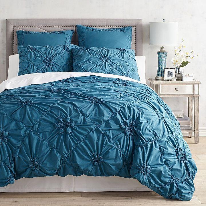 Pier 1 Imports Savannah Teal Duvet Cover Sham Shopstyle Teal Duvet Cover Duvet Covers Luxury Bedding