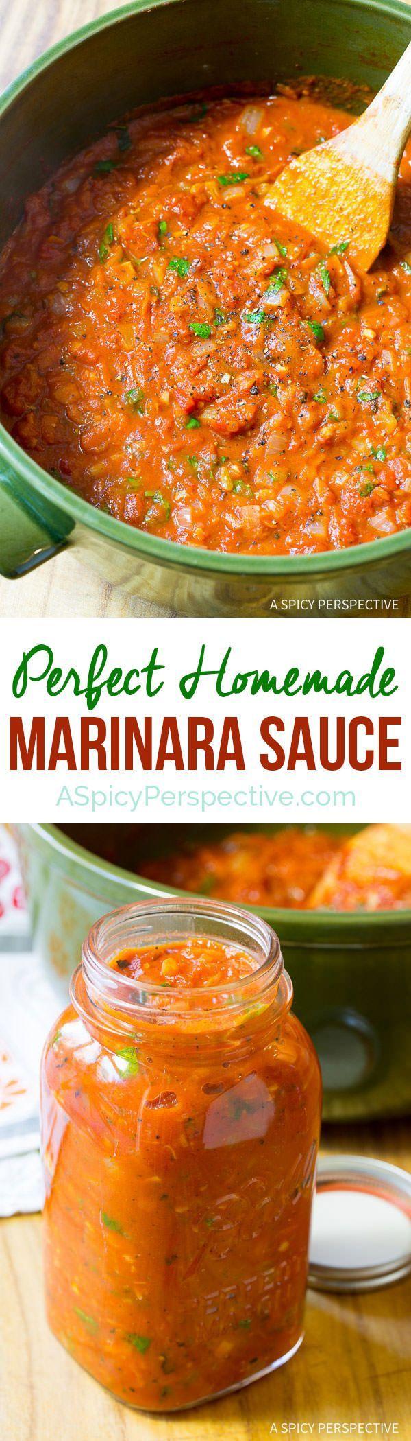 How to Make Marinara Sauce (with Recipe)   http://ASpicyPerspective.com