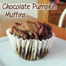So-Easy-You-Want-to-Kiss-Someone Chocolate Pumpkin Muffins! Full recipe available here: http://thepintertestkitchen.com/so-easy-you-want-to-kiss-someone-chocolate-pumpkin-muffins/