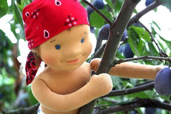Waldorf bambola faccia scultorea 175 di FavoriteDolls su Etsy