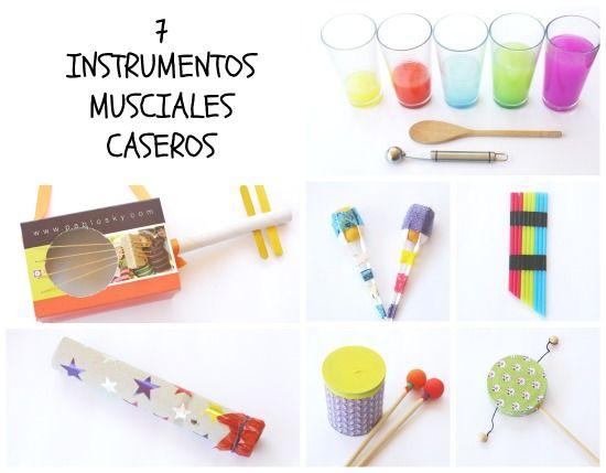 Manualidad infantil: cómo hacer 7 instrumentos musicales caseros con material reciclado fácil de tener en casa. Una manera divertida de acercar a los niños y niñas a la música.