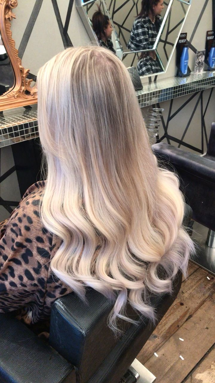 Straight perm edinburgh - Soft Blonde Balayage Root Stretch Wells Professional Colour 20 Ladylux Tape Hair Extensions