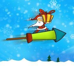 Speelse kerstkaart met Kerstman. Grappige Cartoon-kerstkaarten. Kies een mooie kerstkaart, schrijf de tekst, en met een druk op de knop, verstuur je ze allemaal! http://www.kerstkaartensturen.nl/kerstkaarten/kerst-cartoons/
