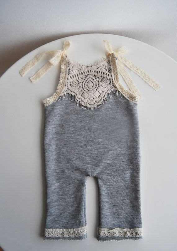 Newborn Romper Newborn Pants with by LovelyBabyPhotoProps on Etsy