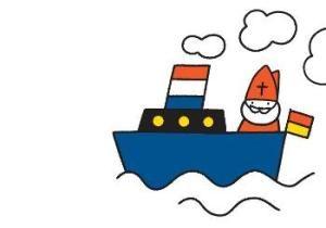 Tekeningen NS2011 Boot Dick Bruna Sinterklaas
