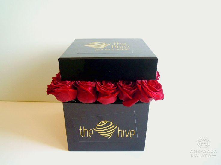 kwiatowe pudełko z brandingiem
