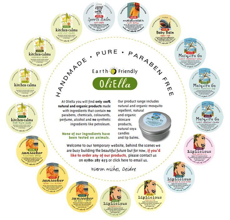 Totally natural products - sunscreen and aftersun, lipbalms, babybalm, sportsbalm, moisturiser, soya candles