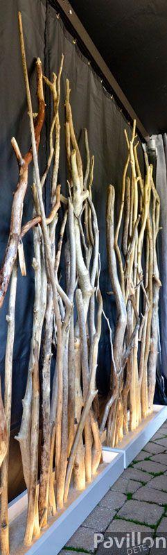 Panneau créé à partir d'une sculpture de bois flottés par Pur Cachet.  http://www.clubpiscine.ca