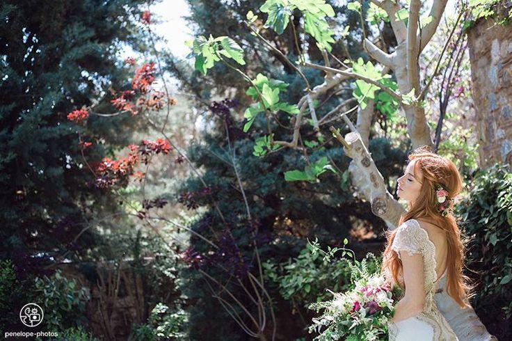Dreamy bridal photoshoot, coming soon... Copyright by @Penelope photography Hair & makeup: Antigoni Livieratou, Gown: Helena Kyritsi, Flowers: @lesfleuristesgr , Venue: Pyrgos Petreza