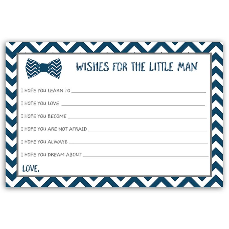 Bowtie Baby Navy Wishes Card
