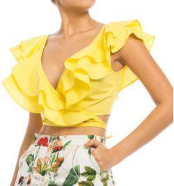Blusa crop top triple bolero Studio F