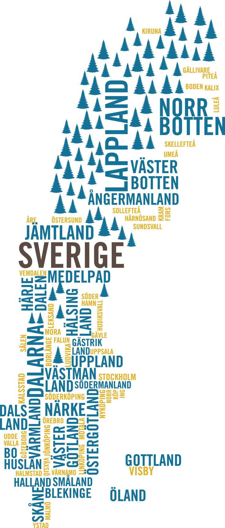 Sweden Type Map #ScanAdventures