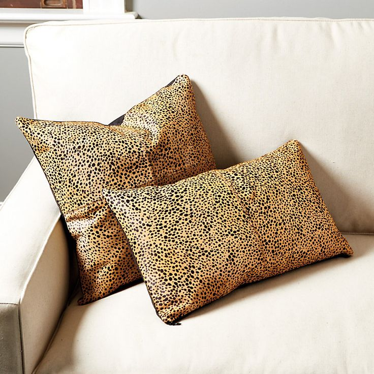 Cheetah Hair-on-Hide Pillow Cover